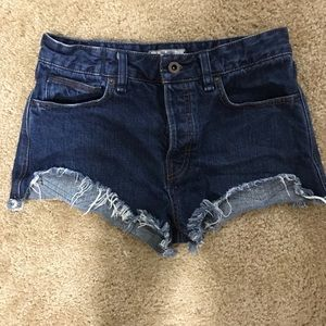 Free People high waisted cutt off shorts